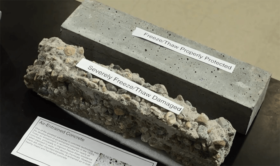 Gcp labs analyze concrete to optimize performance gcp for Concrete freezing